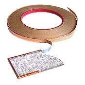 "VENTURE TAPE SILVER BACKED COPPER FOIL - 10MM X 33M (3/8"" X 108')"